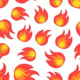Flame fire seamless pattern background icon. Business flat. Flame fire seamless pattern background icon. Business flat vector illustration. Flame sign symbol Royalty Free Stock Photography