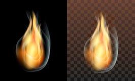 Flame fire smoke translucent transparent Stock Photography