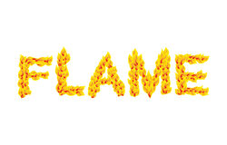 Flame. Fire typography. Burning letters. fiery lettering.  Royalty Free Stock Photos