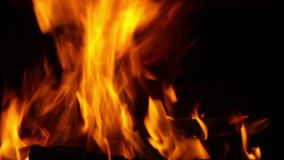 Flame in the fireplace stock video footage
