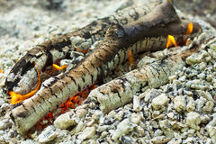 Flame of firewood closeup Stock Photo