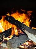Flame. Firewood flame light stock photos