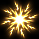 Flame flower. Abstract background - flame neon star Royalty Free Stock Photography