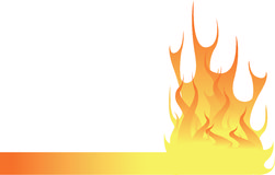 Flame footer. Flames in footer context Royalty Free Stock Images