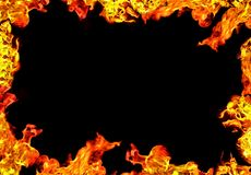 Flame frame. Background with black center Royalty Free Stock Images