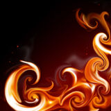 Flame frame. Abstract flame frame - elegant background for your art design Royalty Free Stock Photo