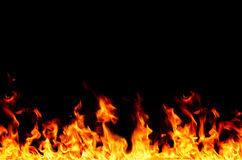 Flame frame Royalty Free Stock Photography