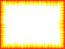 Flame frame Stock Image