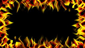 Flame frame stock footage