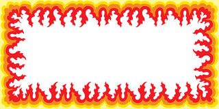 Flame Frame - Large Stock Image