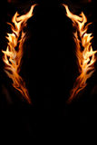 Flame Framed Copy Space. Red and Black Background Stock Photo