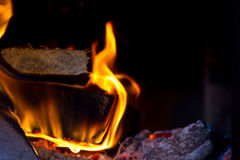 Flame in the furnace Royalty Free Stock Photography