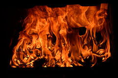 Flame in Furnace Royalty Free Stock Photo