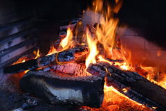 Flame in the furnace Stock Image