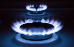 Flame of gas Stock Photography