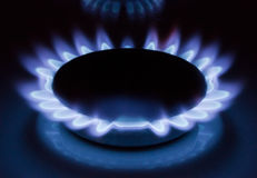 Flame of gas Royalty Free Stock Photo