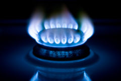 Flame of gas Royalty Free Stock Images