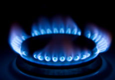 Flame of gas Stock Images