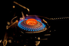 Flame in gas stove Stock Image