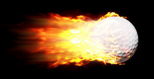 Flame Golf Ball Royalty Free Stock Photos