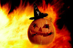 Flame with gourd Royalty Free Stock Photo