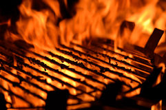 Flame grill Stock Photos