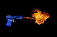 Flame Gun Stock Image