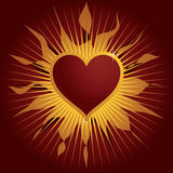 Flame heart Royalty Free Stock Photo