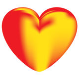 Flame Heart Stock Image