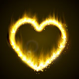 Flame heart on the dark Royalty Free Stock Photos