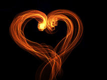 Flame heart shine lovely background Stock Image