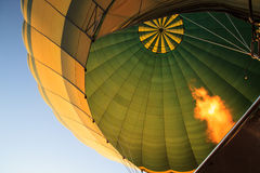 Flame heating up an air balloon Royalty Free Stock Photography
