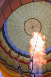 The Flame of a Hot Air Balloon. Flames heat the air to raise a hot air balloon into the sky Stock Photography