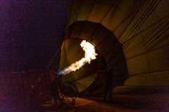 Flame for hot air balloons royalty free stock photos
