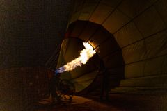 Flame for hot air balloons royalty free stock photo