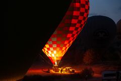 Flame for hot air balloons royalty free stock images