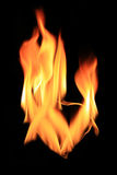 Flame and hot heart Royalty Free Stock Photography