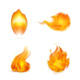 Flame, icon. Computer illustration on white background Stock Image