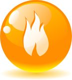 Flame icon. Stock Images