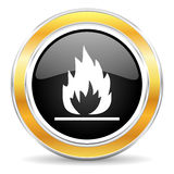 flame icon vector illustration