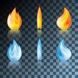Flame Icon Set Stock Photos