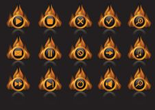 Flame icons Royalty Free Stock Image
