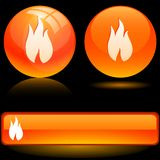 Flame icons. Royalty Free Stock Photography