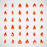 Flame Icons Royalty Free Stock Photography