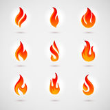 Flame Icons Stock Photography