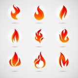 Flame Icons Royalty Free Stock Photo