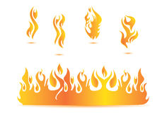 Flame illustration design. Fire heating Stock Photography
