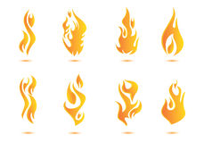 Flame illustration design. Fire heating Royalty Free Stock Photos