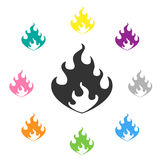 Flame  illustration Stock Photo