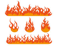 Flame illustration. Fire and flame design illustration Royalty Free Stock Images
